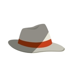Beach hat panama icon vector