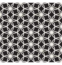Black and White Seamless Hexagonal Floral vector image vector image