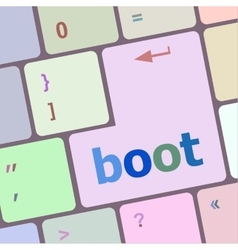 Boot button on computer pc keyboard key vector