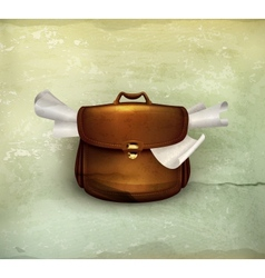 Briefcase old-style vector image vector image