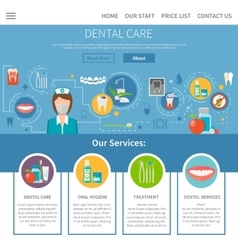 Dental care page design vector