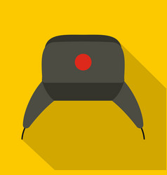 Earflap hat icon flat style vector