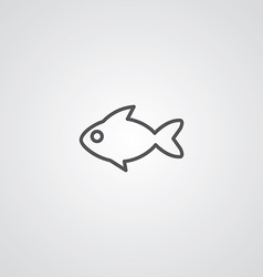 fish outline symbol dark on white background logo vector image vector image
