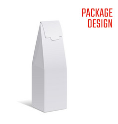Gift craft box vector