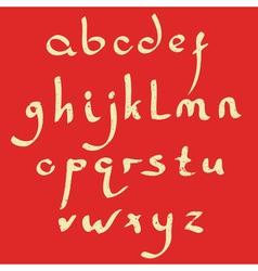 handmade Roman alphabet vector image