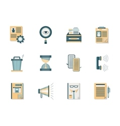 Headhunting flat color icons set vector image