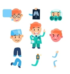 Healthcare Infographic Elements Set vector image