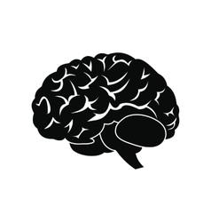 Human brain black icon vector