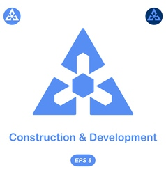 Logo conception of development and construction vector