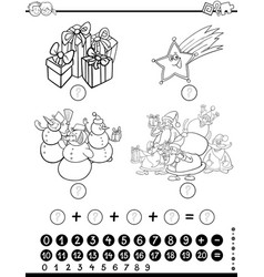 mathematical activity for coloring vector image vector image