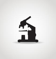 Microscope Black Icon vector image vector image
