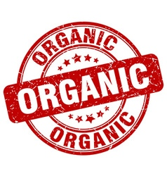 Organic red grunge round vintage rubber stamp vector