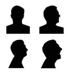 Profile silhouette set vector