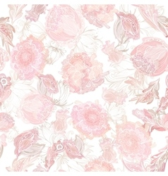 Romantic Soft Floral Pattern vector image