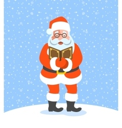 Santa Claus singing Christmas carols vector image