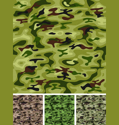 Seamless military and hunting camo vector