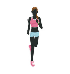 sport woman running with smart glasses wearable vector image
