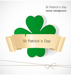 St Patrick day card vector image vector image