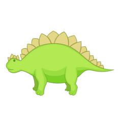 stegosaurus icon cartoon style vector image vector image