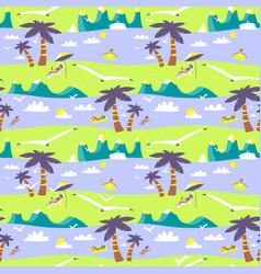 Summer beach seamless pattern idyllic sea vector