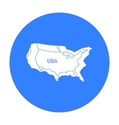 Territory of the United States icon in black style vector image