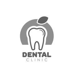 Tooth logo for dental clinic vector