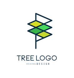 Tree logo templete original design abstract vector