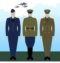 Uniforms russian military pilots vector