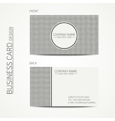 Vintage hipster striped simple monochrome business vector