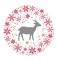 Winter Christmas Round Wreath with Snowflakes and vector image vector image