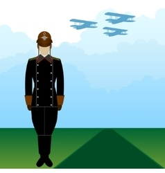 Uniforms russian military pilot-2 vector