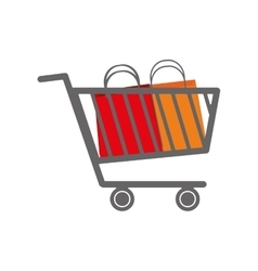 Shopping cart bag commerce icon graphic vector