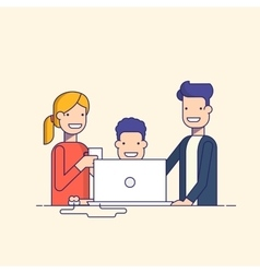 Business team in a work process or parent watch vector