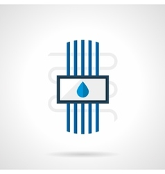 Flat style water heated floor icon vector