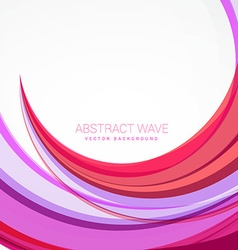 Clean pink wave background design vector