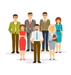 Business men and women vector