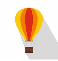 Hot air balloon icon flat style vector