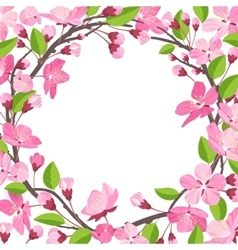 Pretty beautiful shabby chick cherry blossom vector