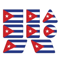 Buttons with flag of cuba vector
