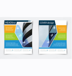 Brochure flyer template annual report abstract vector