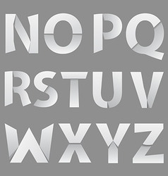 Abstract paper font letter 2 vector