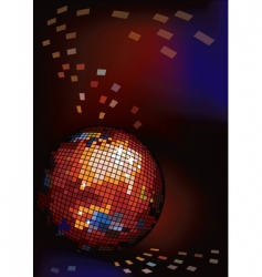 dark background with disco ball vector image