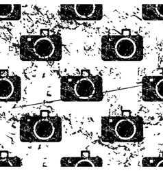 Camera pattern grunge monochrome vector