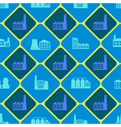 Seamless background with industrial buildings vector
