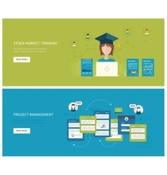Project management stock market - training vector