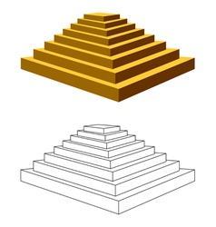 Two pyramids vector