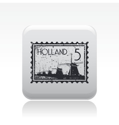 Holland icon vector