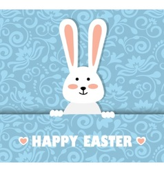 Easter card with a rabbit vector image