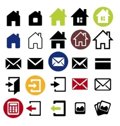 Web icons set - house letter vector