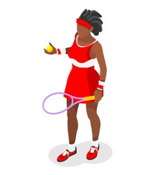 Tennis 2016 Sports Isometric 3D vector image